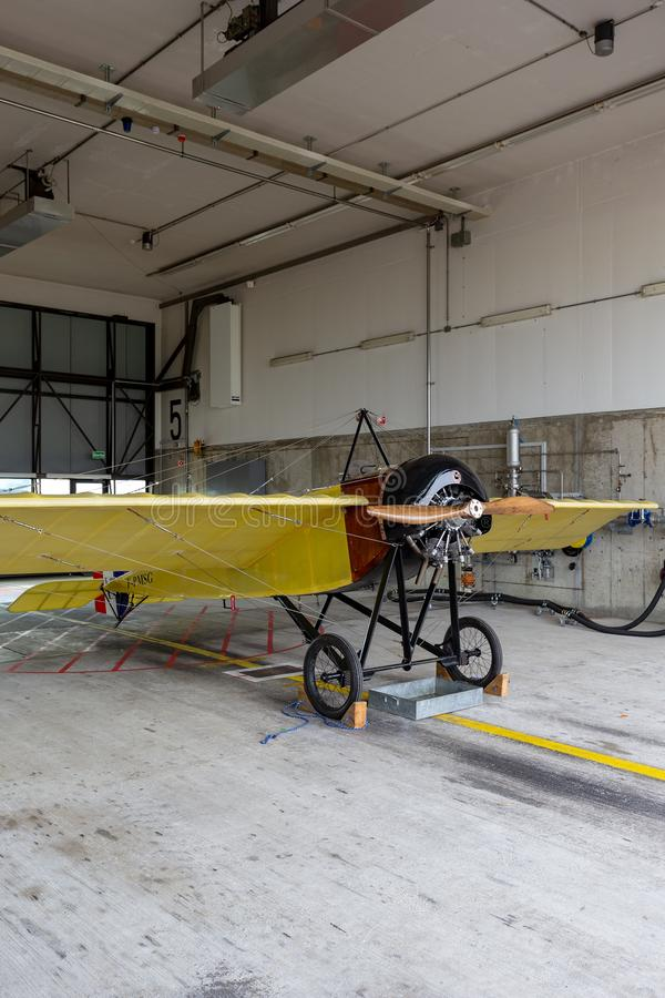 Tipo réplica F-PMSG de Morane-Saulnier de G foto de stock royalty free