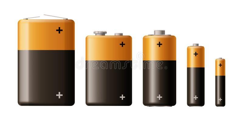 Tipo sistema de la batería libre illustration