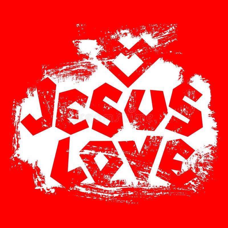 Tipografía cristiana, letras, dibujo a mano Jesus Love libre illustration