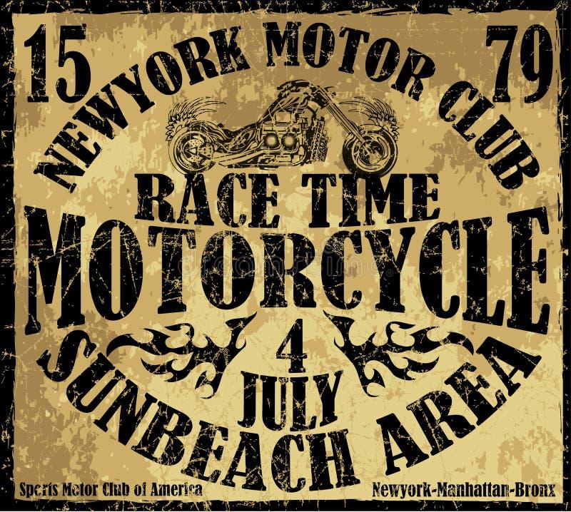 Tipografía de la alcantarilla de la motocicleta, gráficos de la camiseta, vectores ilustración del vector