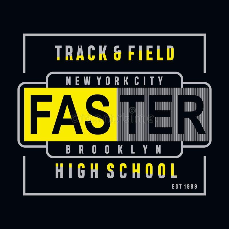 Tipografía de la escuela secundaria del deporte de PrintAthletic, gráficos de la camiseta ilustración del vector