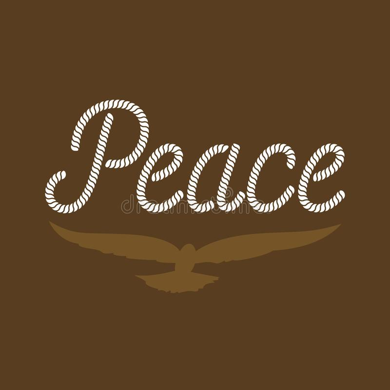 Tipografía de la paz stock de ilustración