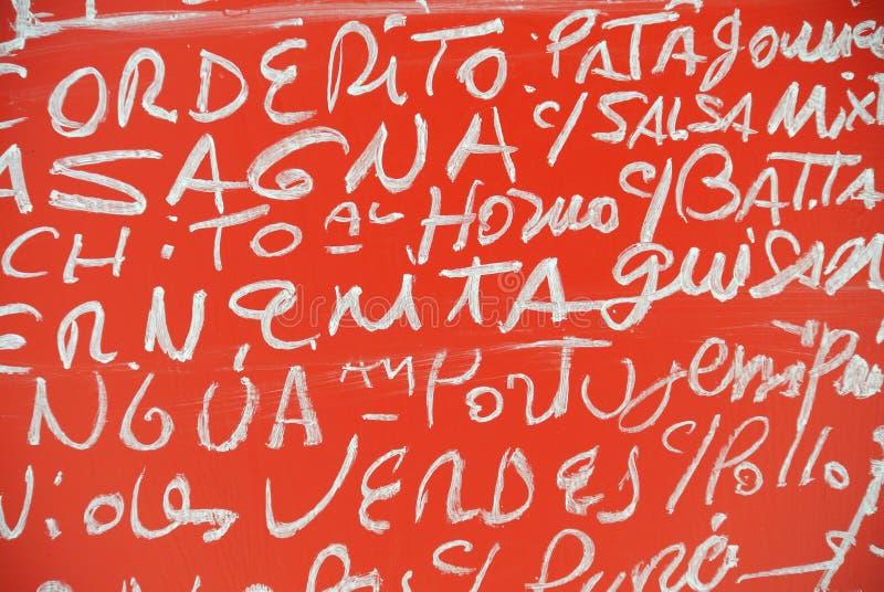 Tipografía de la tiza a bordo imagenes de archivo