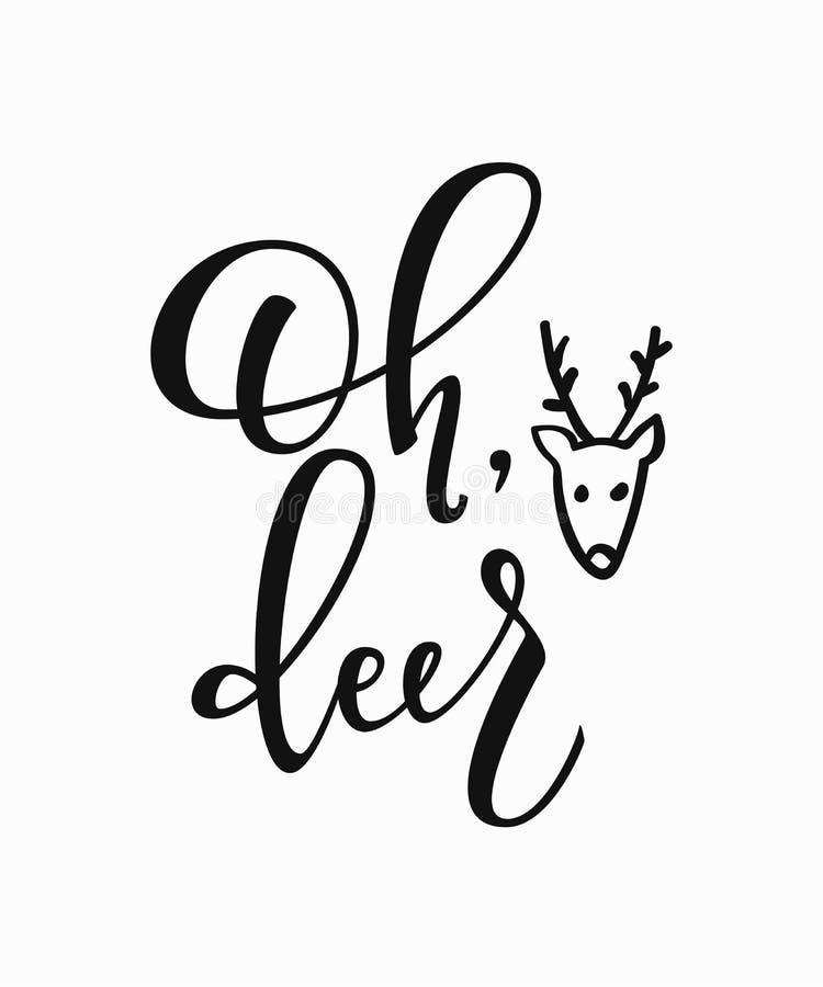 Tipografía de las letras del Año Nuevo de la Navidad del invierno ilustración del vector