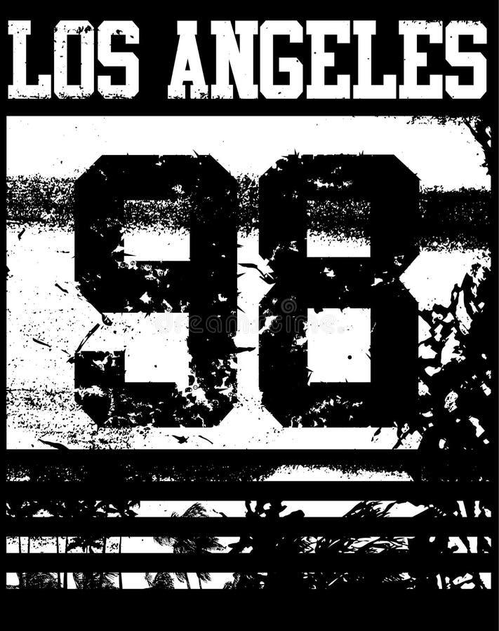 Tipografía de Los Ángeles de la universidad; gráficos de la camiseta stock de ilustración