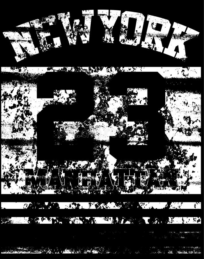Tipografía de Nueva York de la universidad, gráficos de la camiseta ilustración del vector