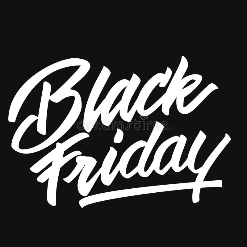 Tipograf?a de una palabra Black Friday ilustración del vector
