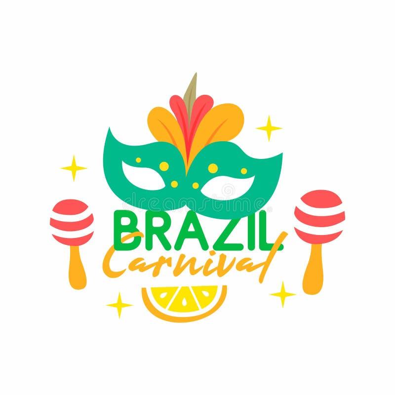 Tipografía del carnaval del Brasil imagen de archivo libre de regalías