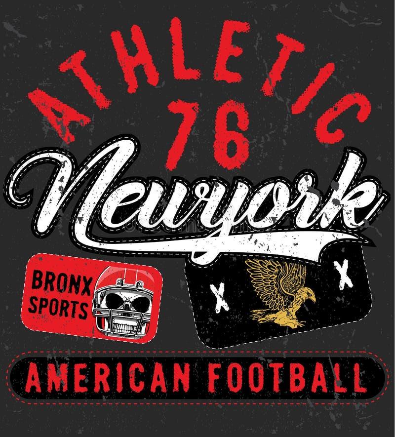 Tipografía del deporte de Bronx Nueva York; gráficos de la camiseta; vectores libre illustration
