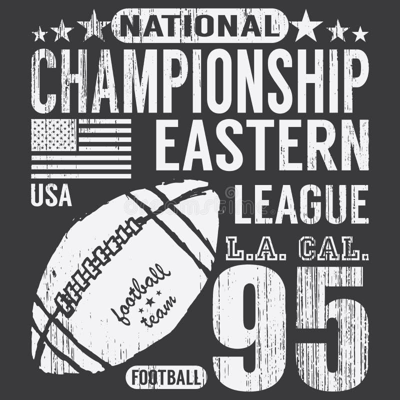 Tipografía del deporte del fútbol, gráficos del diseño de la impresión de la camiseta, cartel del vector, etiqueta del Applique d libre illustration