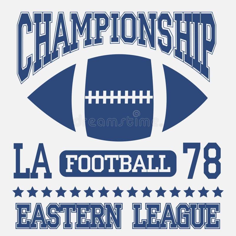Tipografía del deporte del fútbol Liga del este Los Ángeles stock de ilustración