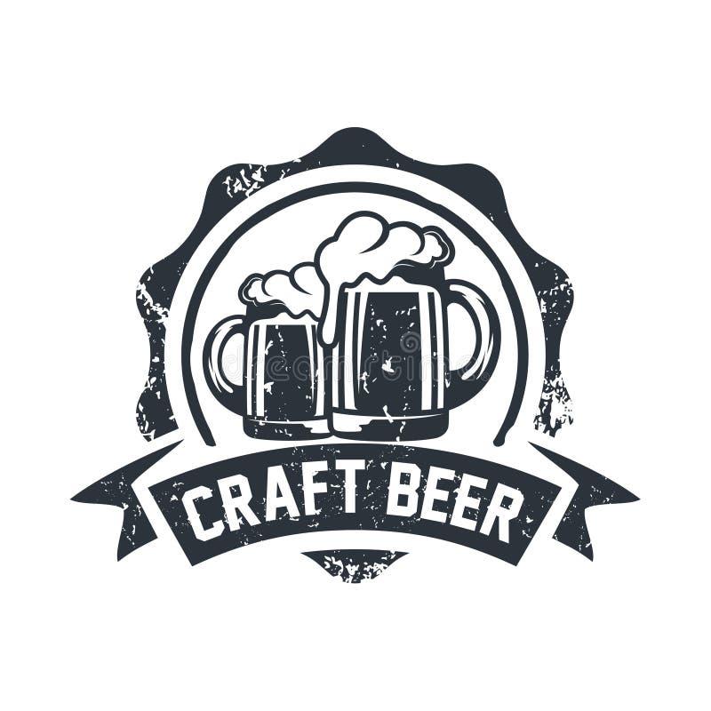 Tipografía del emblema del país del vintage para el ejemplo del vector de la cerveza/del diseño del logotipo del restaurante stock de ilustración