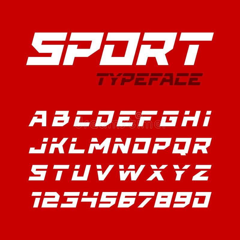 Tipografía del estilo del deporte ilustración del vector