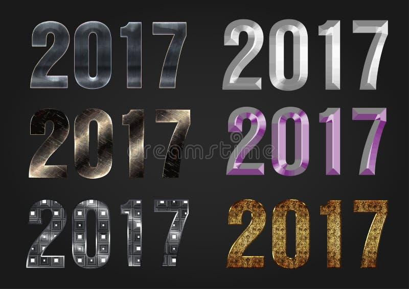 Tipografía del vector de 2017 años libre illustration