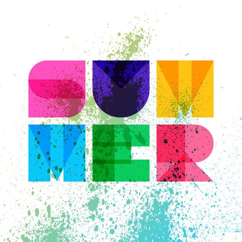 Tipografía del verano, gráficos de la camiseta Ilustración del vector stock de ilustración