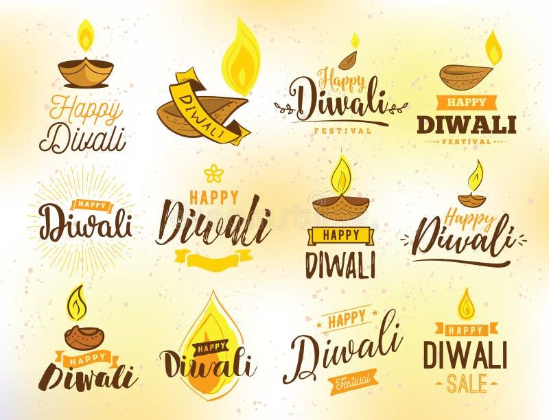 Tipografía feliz de Diwali libre illustration