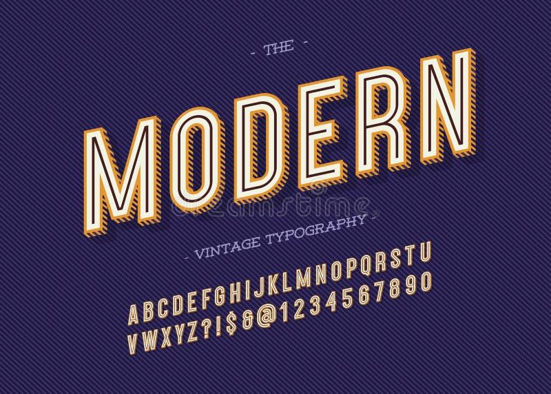 Tipografía moderna del vintage libre illustration