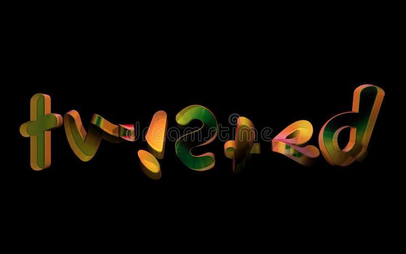 tipografía torcida 3D ilustración del vector