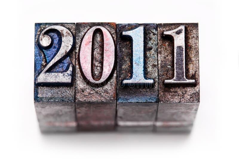 Tipografia 2011 imagens de stock