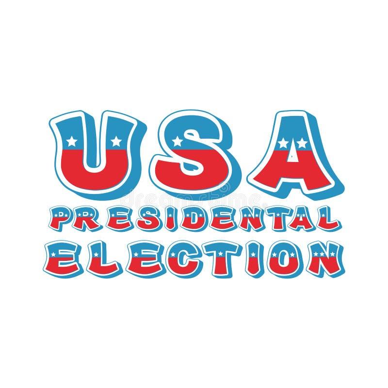 Tipografia da eleição presidencial dos EUA Debate político em América ilustração do vetor