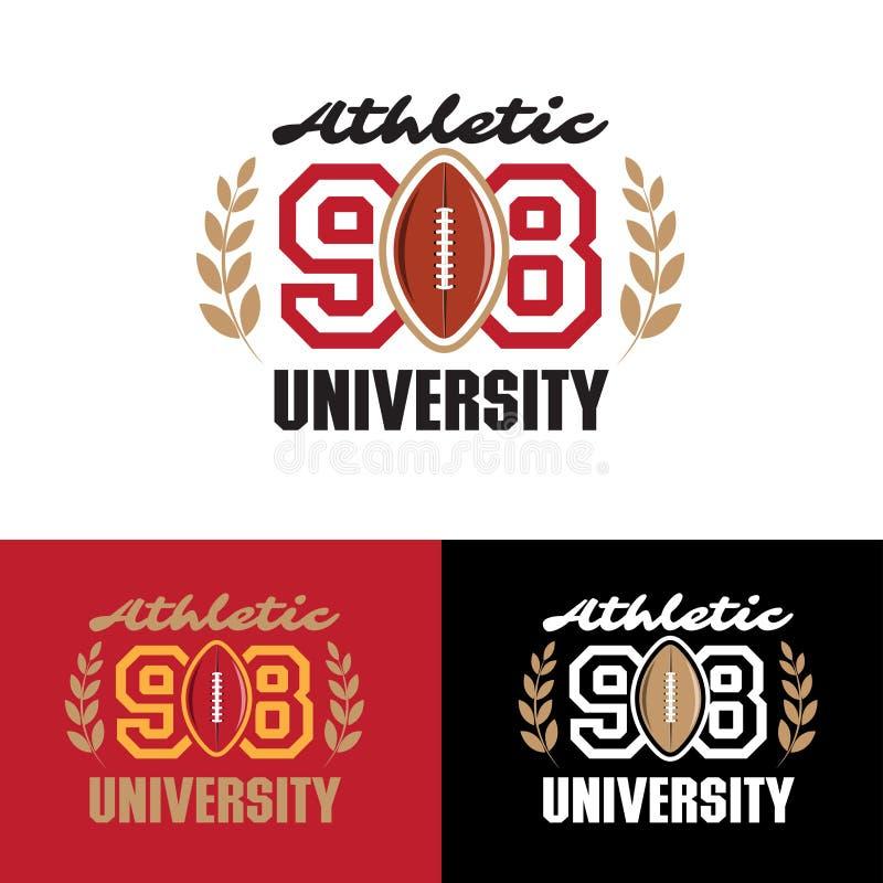 Tipografia da etiqueta do esporte atlético, gráficos do t-shirt, cartaz, arte do vetor, ilustração do vetor ilustração stock