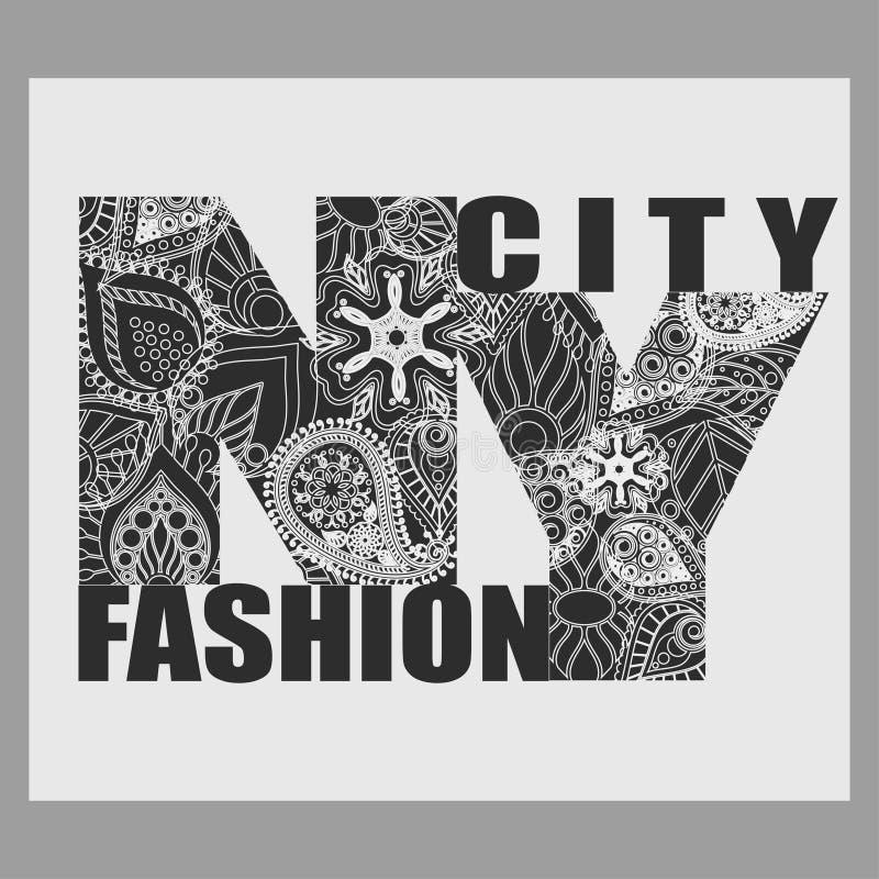 Download Tipografia Da Forma Do T-shirt De New York Ilustração do Vetor - Ilustração de étnico, laço: 65580789