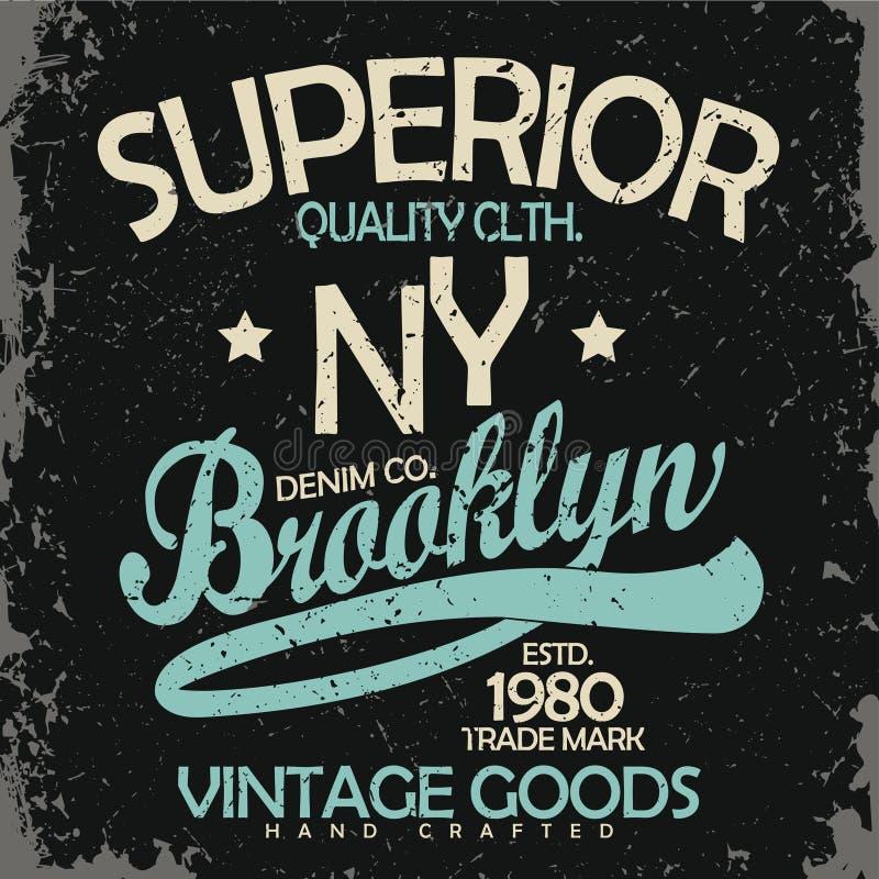 Tipografia da sarja de Nimes, gráficos do t-shirt ilustração stock