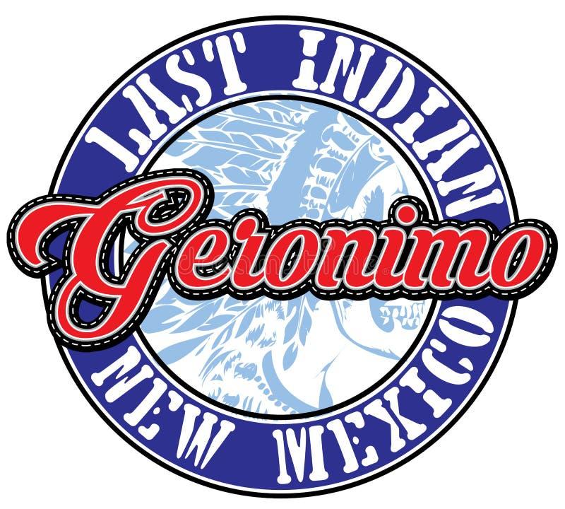 Tipografia de Geronimo do esporte atlético; gráficos do t-shirt; vetores ilustração royalty free