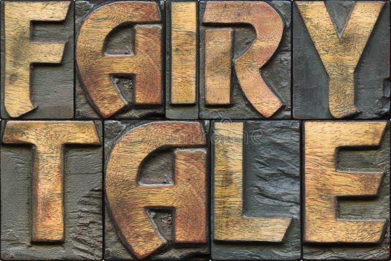 Tipografia de madeira do conto de fadas imagens de stock royalty free
