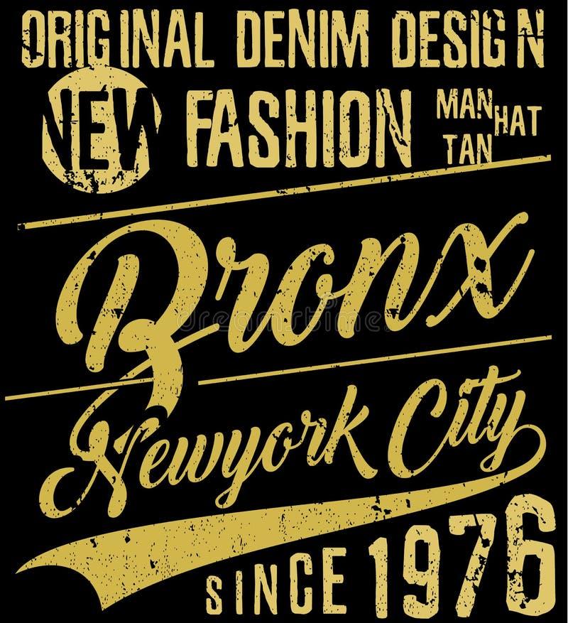 Tipografia de New York City, slogan, gráficos do t-shirt, vetores, ilustração do vetor