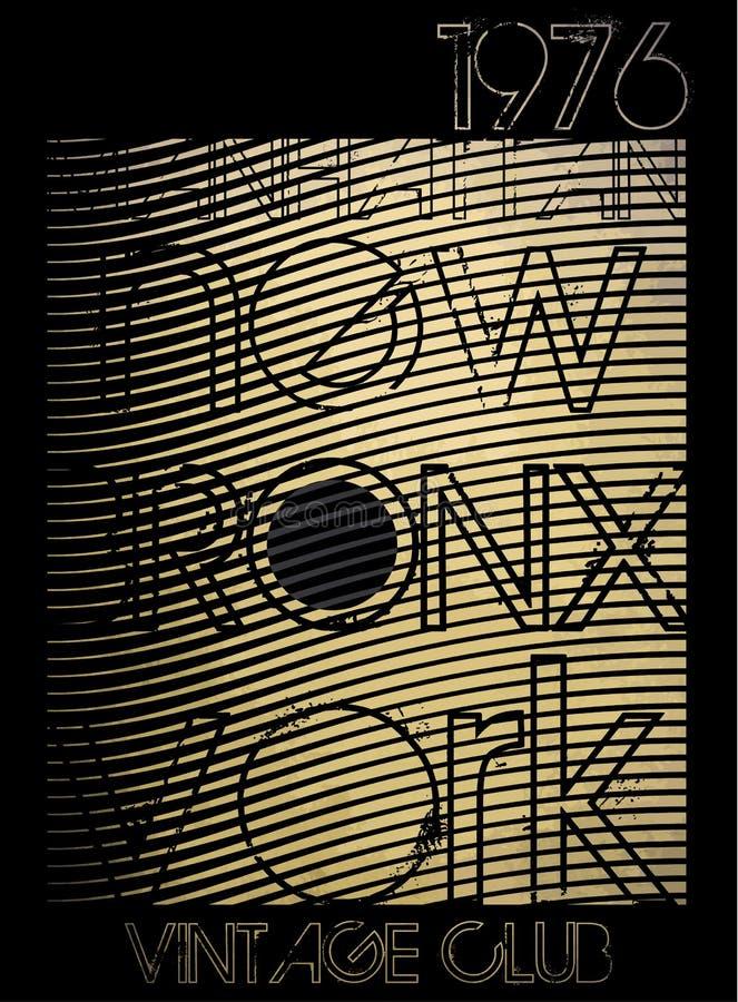 Tipografia de New York da faculdade; gráficos do t-shirt; vetores ilustração royalty free