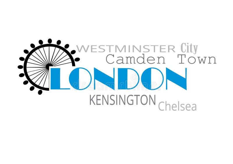 Tipografia di Londra illustrazione vettoriale