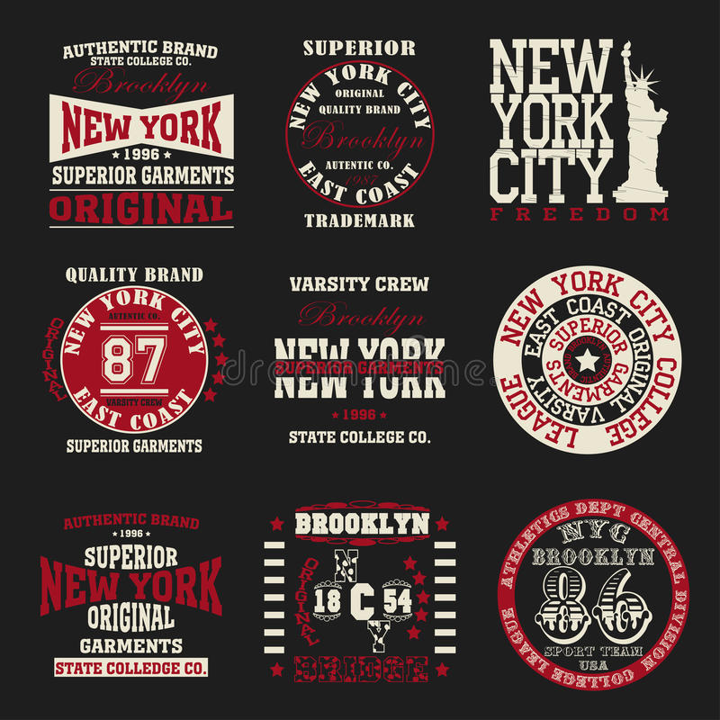 Tipografia di New York royalty illustrazione gratis