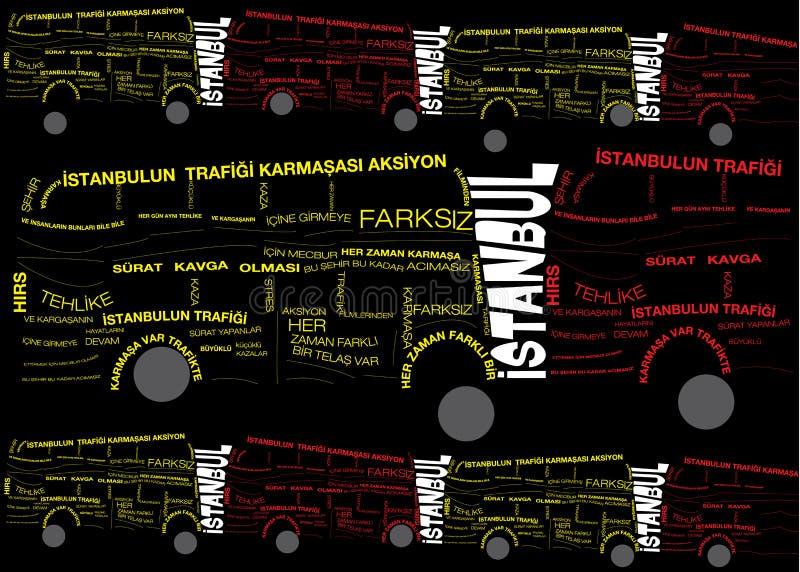 Tipografia di traffico di Costantinopoli immagini stock libere da diritti
