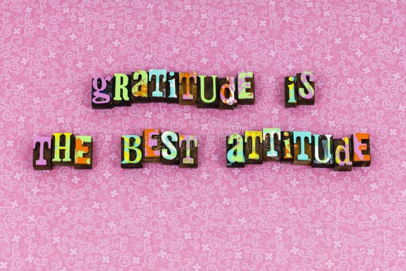 Tipografia do amor da esperança da atitude da gratitude a melhor imagens de stock royalty free