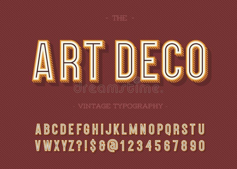 Tipografia do vintage do art deco ilustração royalty free