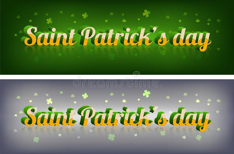 Tipografia elegante irlandese di giorno di San Patrizio immagini stock
