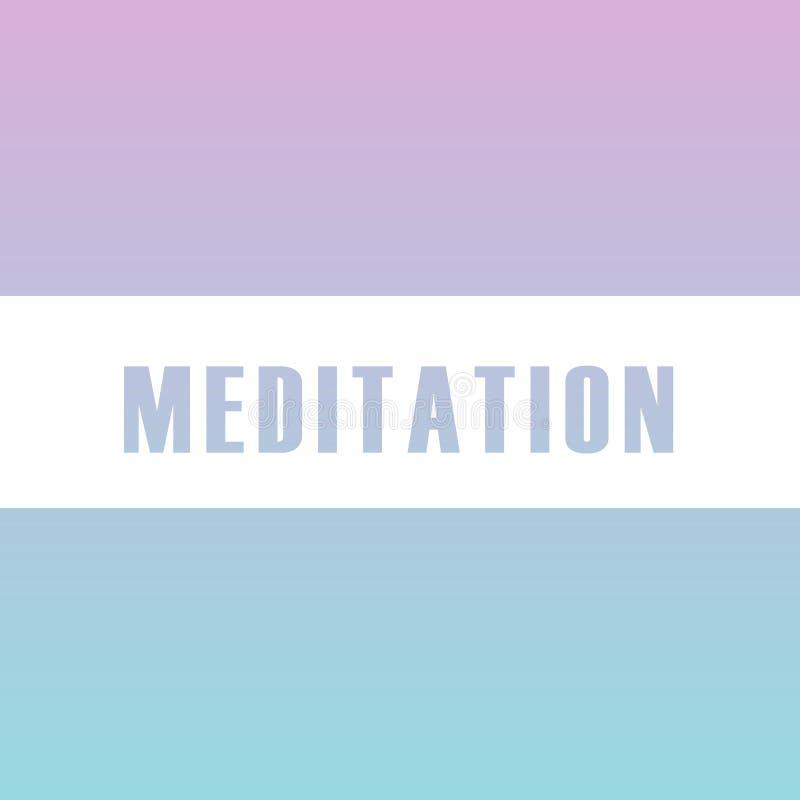 Tipografia motivazionale di meditazione nei colori morbidi royalty illustrazione gratis