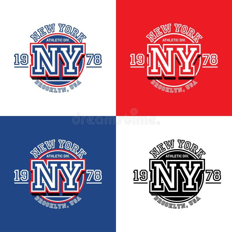 Tipografia ostentando de New York, gráficos do projeto do t-shirt do fato, cartaz, arte do vetor, ilustração do vetor ilustração stock