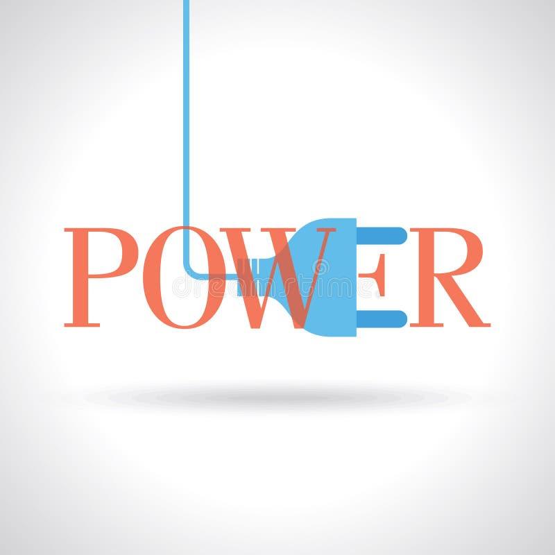 Tipografia per potere con connettività elettrica illustrazione di stock