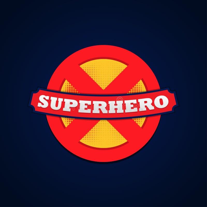 Tipografia poderosa do logotipo do super-herói, gráficos do t-shirt Ilustração do vetor ilustração royalty free