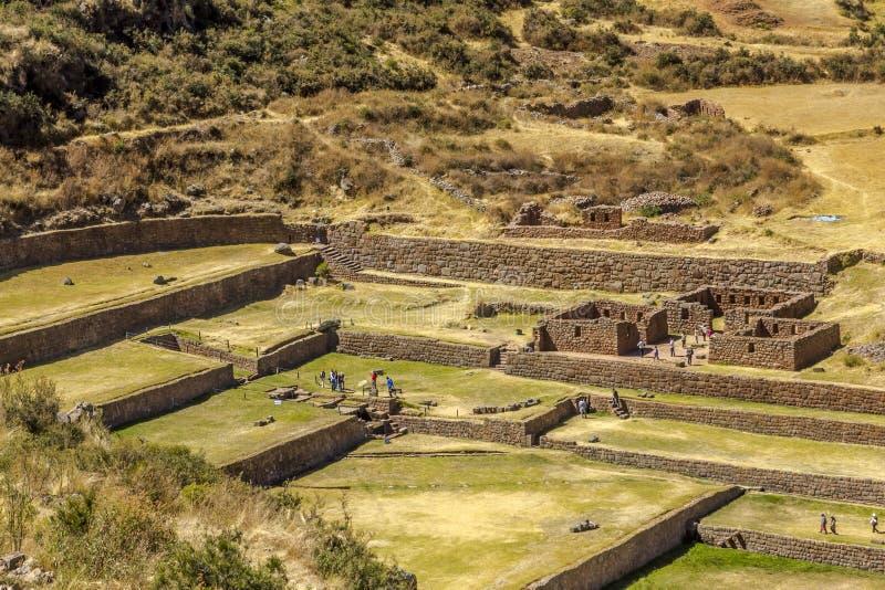 Tipon fördärvar Cuzco Peru arkivfoto