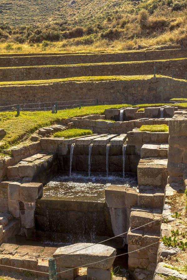 Tipon rovina Cuzco Perù fotografia stock libera da diritti