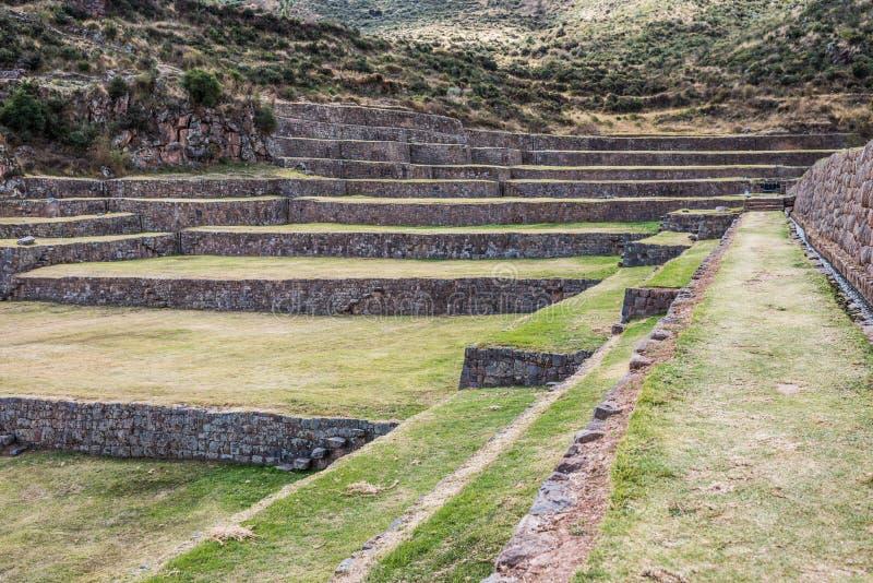 Tipon rujnuje peruvian Andes Cuzco Peru obraz stock