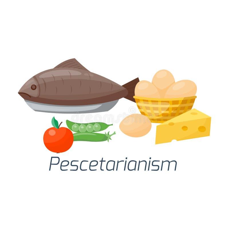 Tipos cozimento saudável do menu da cozinha dos frutos da ilustração da dieta de alimento do vegetariano do conceito da nutrição  ilustração stock