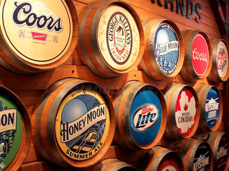 Tipos da cerveja de Coors fotos de stock royalty free