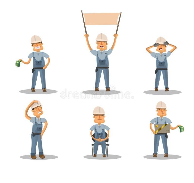 Tipos de construcción ilustración del vector
