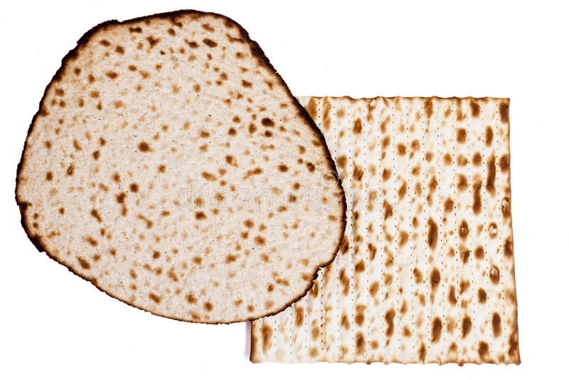 Tipos de Matzah imagen de archivo