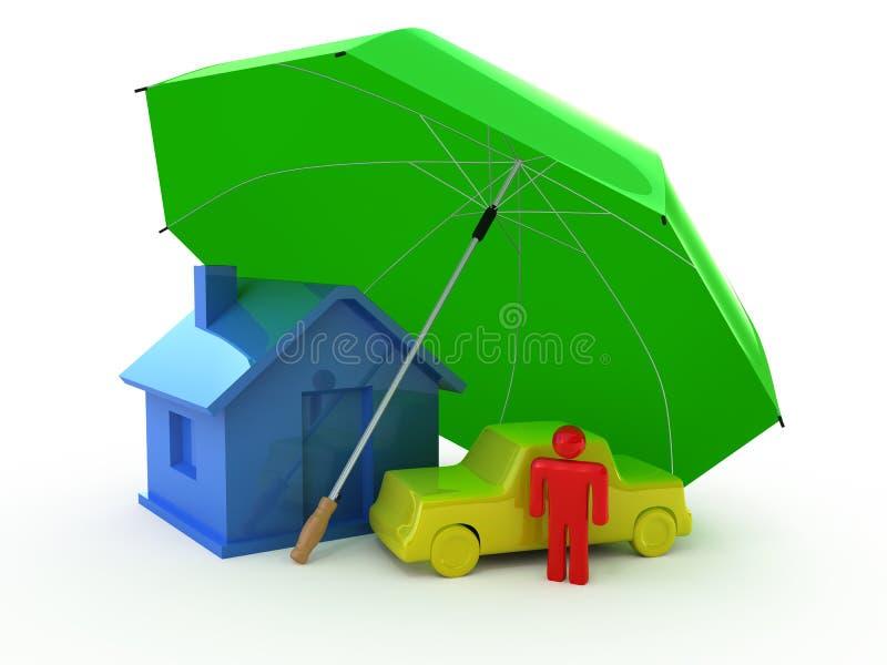 Tipos de seguro ilustración del vector