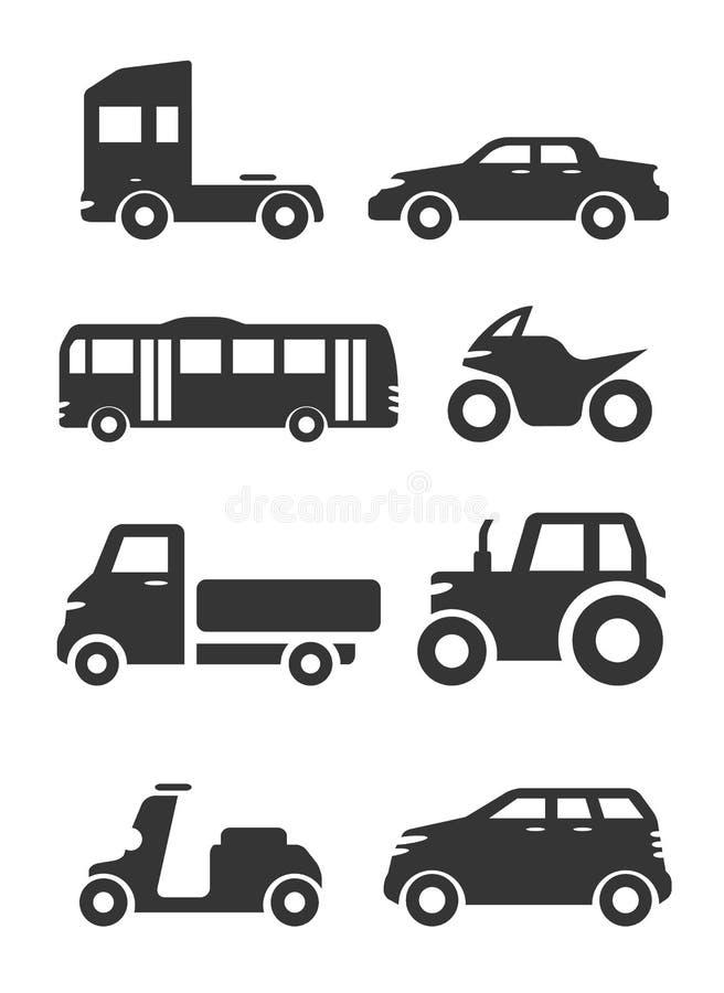 Tipos de sistema del icono del transporte libre illustration